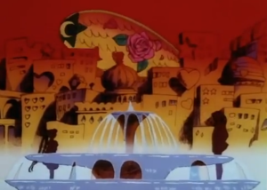 """Fountain... Russian city... and a blimp. Yeah, that SCREAMS Sailor Moon"""