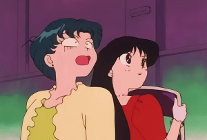 This is a really weird moment - Ami just cannot believe that Sailor Moon might turn up to save them