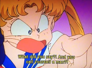 Hey, you're meant to be a feminist, don't draw gender lines here Usagi!