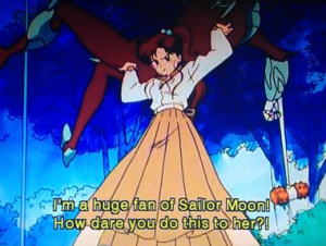 Wait why do we need the Sailor Senshi when a human can do this?
