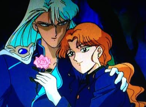 Because gays love flowers, right? So sensitive, Sailor Moon