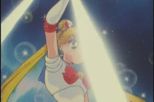 They really try hard to make this a dramatic moment for Sailor Moon, but it falls a little flat