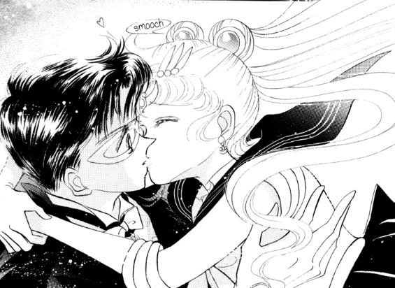 Nice! You kiss the shit out of him Sailor Moon, it appears to be his weak spot