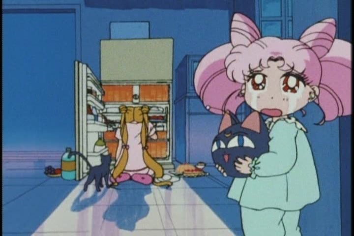 I think Chibi-Usa has less of a legitimate case for being depressed here.