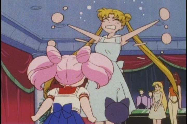 Yeah, see what happens when you leave Chibi-Usa with Usagi? Smart move.