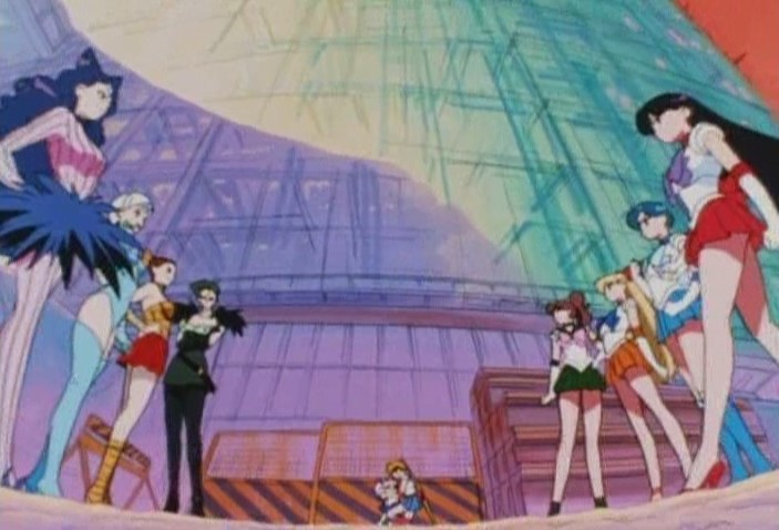 Sailor Senshi and Phantom Sisters face off