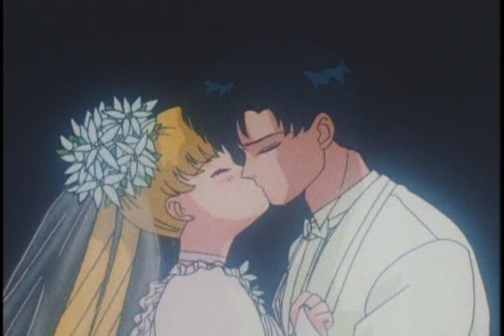 Again, any scene of two characters kissing on screen in 1993 Japan is a little risky