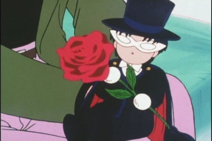 It even has the same vacant douchey expression as the real Tuxedo Kamen