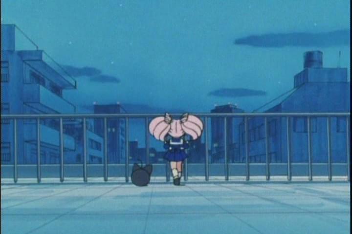 Chibi-Usa having an epistemological breakdown over Usagi being Sailor Moon