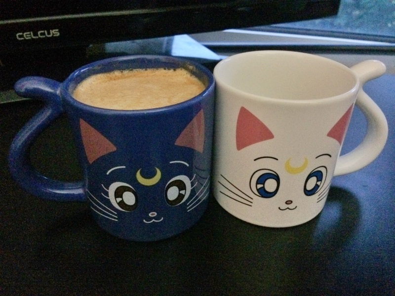 You'll noticed I'm drinking out of Luna, as opposed to Artemis, mainly because she's not an idiot