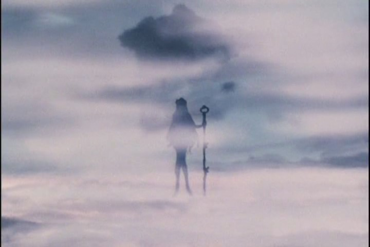 Sailor Pluto surrounded by fog
