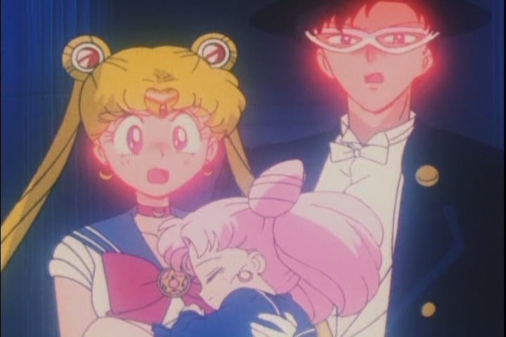 Funny to see Tuxedo Kamen just as flustered and embarrassed as Sailor Moon for once