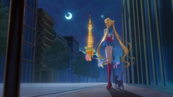 Sailor Moon Crystal - Sailor Moon, Luna, Tokyo Tower