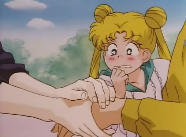 It's just a friendly handshake, Usagi. A really friendly one...