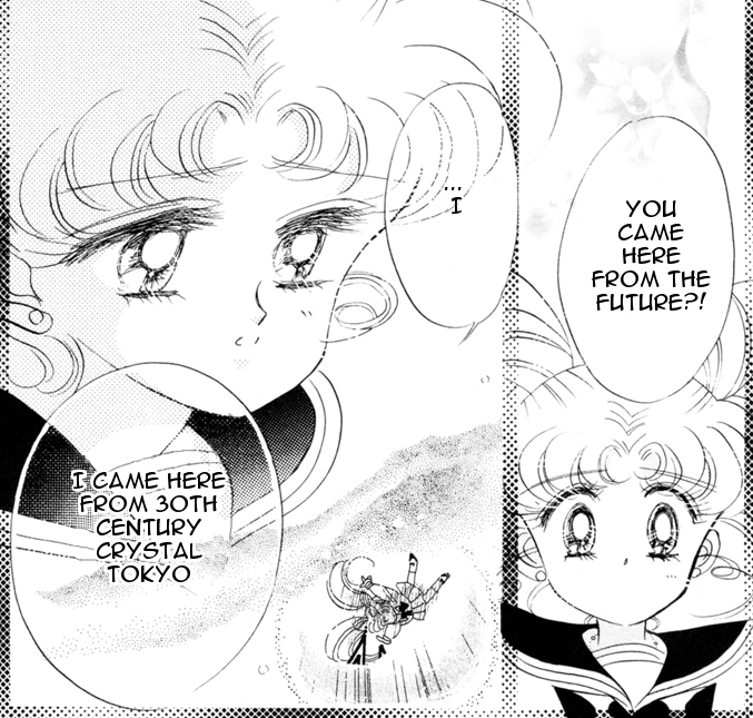 Sailor Moon manga - Chibi-Usa talks about the future