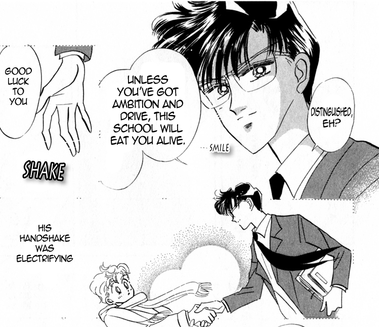 Also there's this weird sexual element to Asanuma's worship of Mamoru. I'm not making this up, everything in this manga has underlying sexual tension