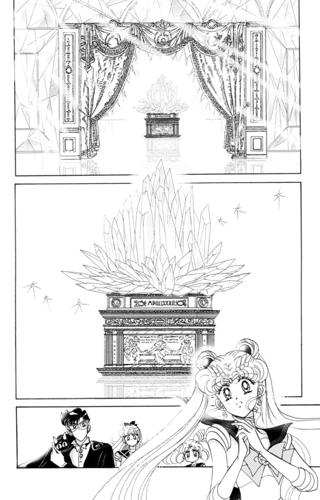 Sailor Moon manga - Sailor Moon approaches Neo Queen Serenity