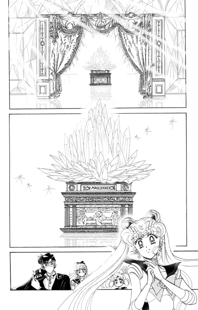 Sailor Moon manga - Sailor Moon approaches Neo Queen Serenity