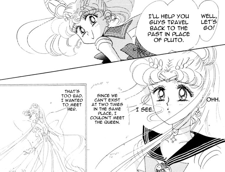 Sailor Moon manga - Sailor Moon regrets she can't meet Serenity