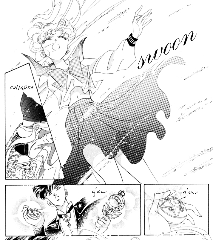 Sailor Moon manga - Usagi detransforms