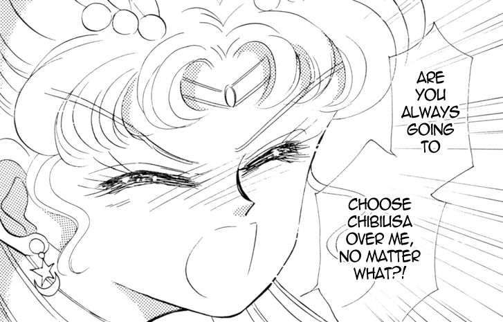What I wanted to see was character development of Usagi realising that she will be a mother and attempting to resolve her new found responsibility and feelings. Instead, we get creepy Freudian bullshit