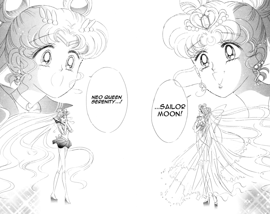 Sailor Moon manga - Sailor Moon and Neo Queen Serenity
