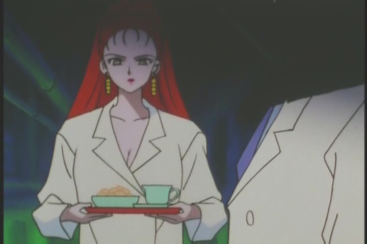 She spends ages just making tea and looking as though she's wearing nothing underneath that lab coat