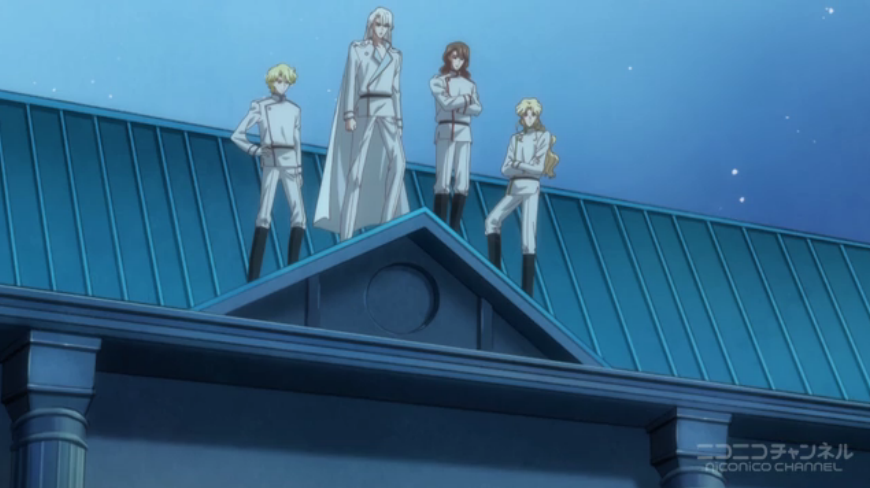 Sailor Moon Crystal - The Great Four on a roof