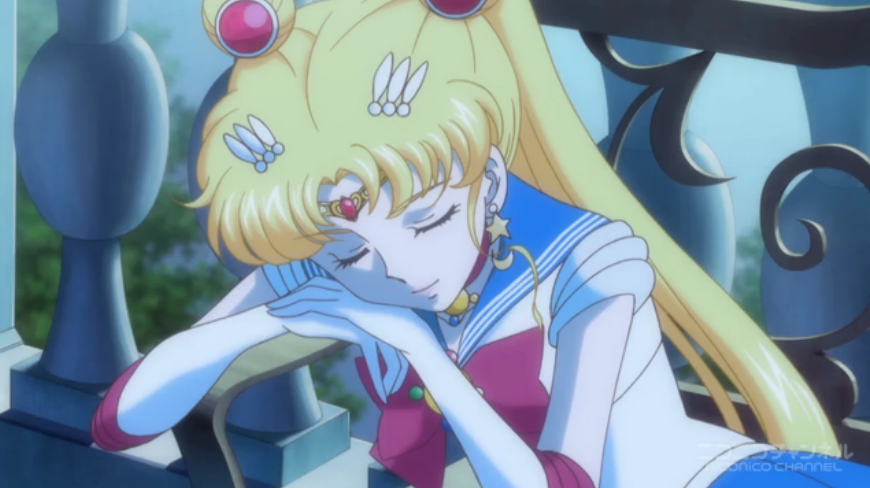 Sailor Moon Crystal - Sailor Moon asleep