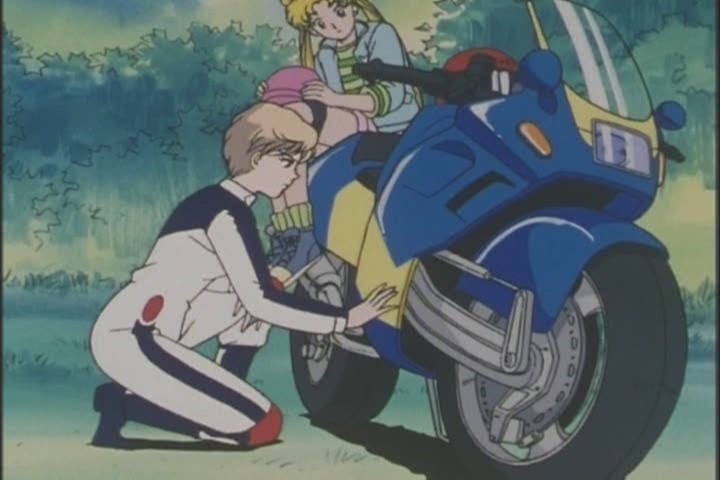 "Haruka theorises that the ""spark plug has gone crazy"", which sounds plausible"