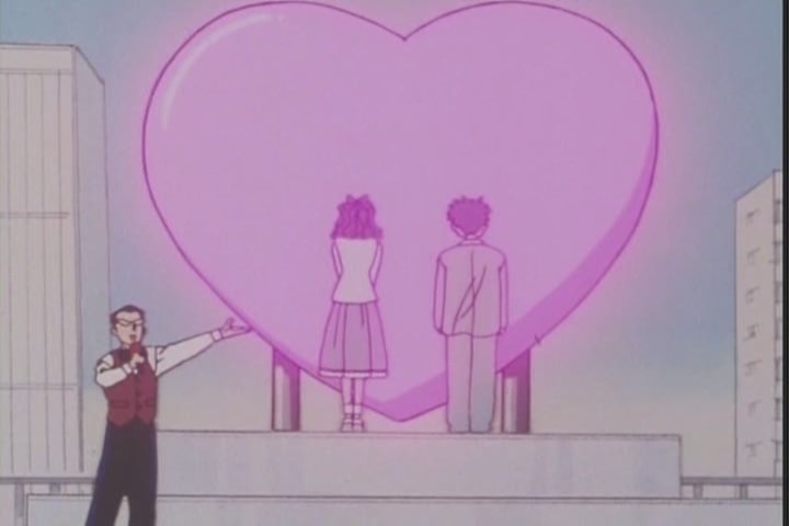 """Look! LOOK AT THIS COUPLE. They are to be SACRIFICED to the ALMIGHTY HEART."""