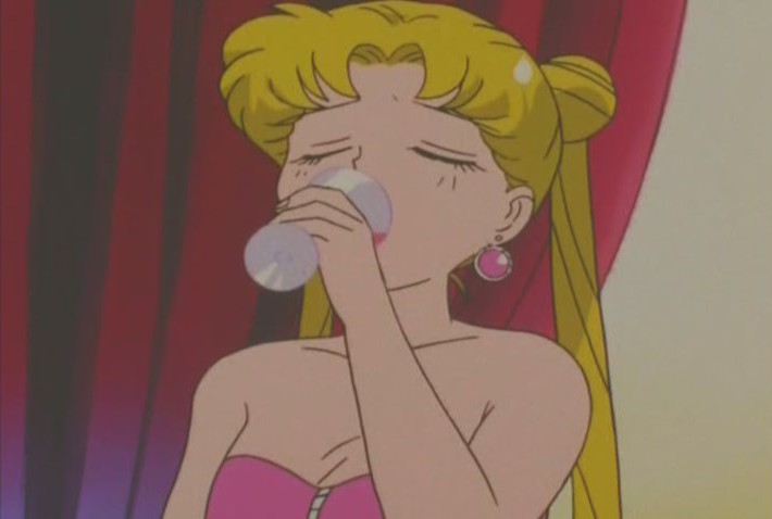 Usagi getting drunk