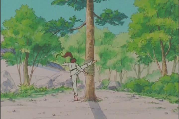 Yeah! You kick that tree in the goddamn FACE Makoto!