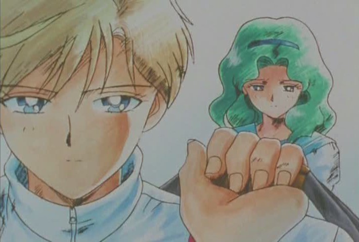 I really feel Michiru's hurt here. The pathos is dripping off the walls. You're so MEAN Haruka!