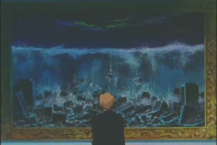 Haruka sees Michiru's painting of the end of the world