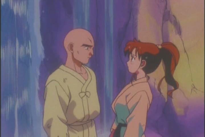 Yakushiji staring at Makoto