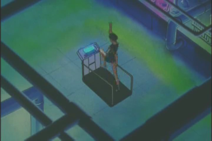 Professor Tomoe on a treadmill