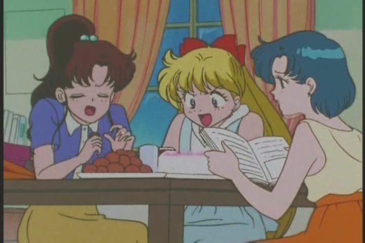 Makoto, Ami and Minako gossiping