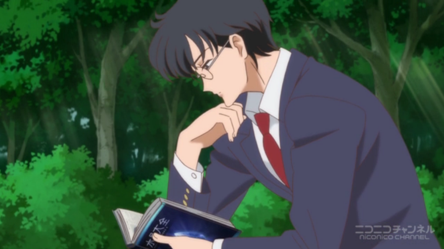 Sailor Moon Crystal - Mamoru reading