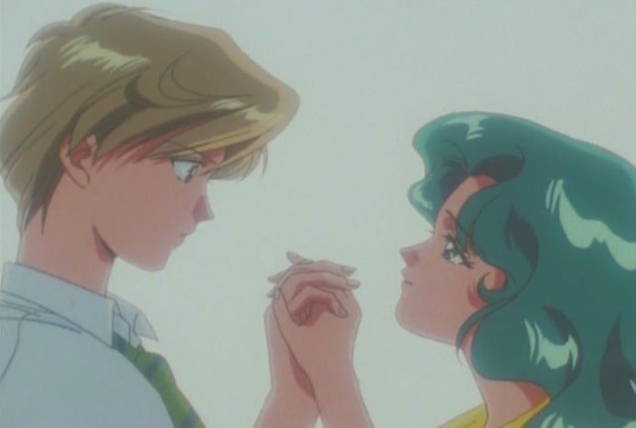 Haruka and Michiru close together