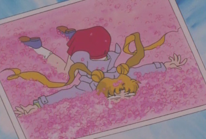 Usagi face down in flowers
