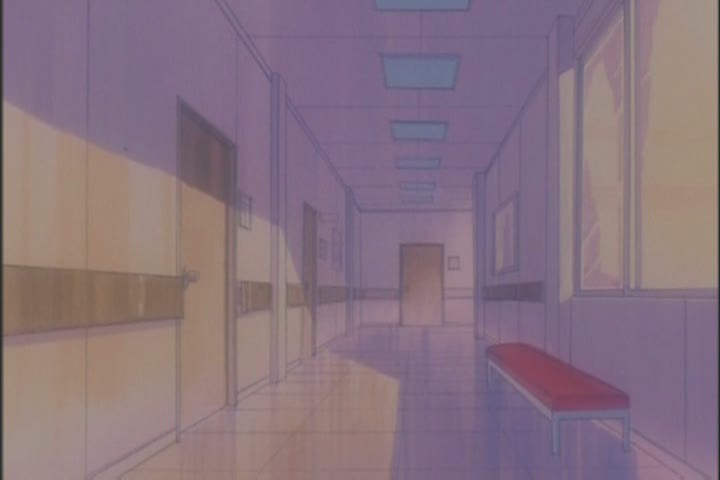 Little moments like these, moody corridors with long shadows, show the animators really trying to make a beautiful episode
