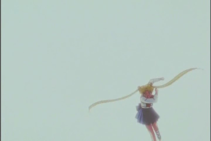 This is seriously one of the bravest, most kick-ass acts Usagi ever does. Untransformed, she still just GOES for it