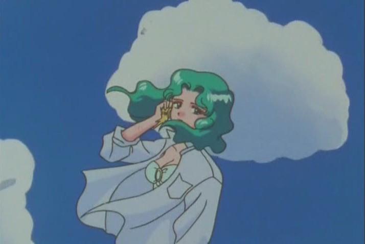 Michiru listening to waves