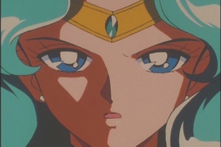 """The shadow effects on the Outer Senshi here make them look so threatening. What a perfect way to cast them into """"darkness"""""""