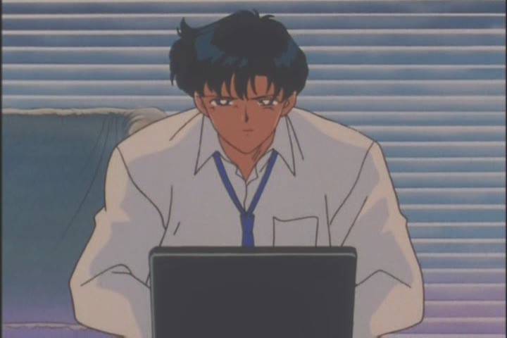 He's only using one hand to type right now. Heh heh.