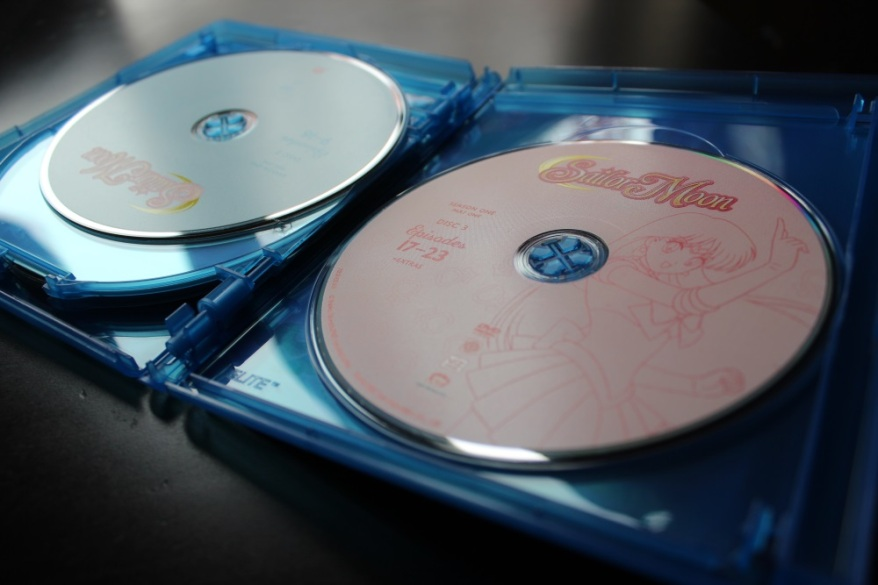 Note the simple outlines of the Senshi on each disc. Works perfectly!