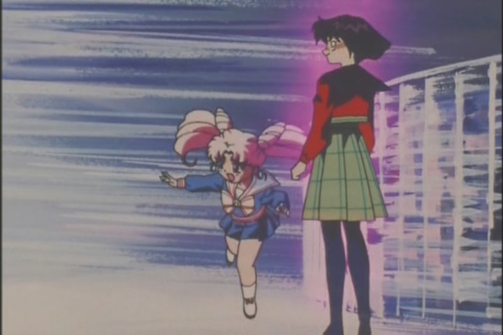 The most fascinating aspect of this moment is Hotaru's expression, which is elated malice. Unlike anything we've seen from her before
