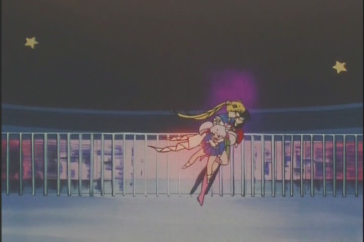 Very cool moment for Sailor Moon. She looked awesome in the dive, didn't even hesitate