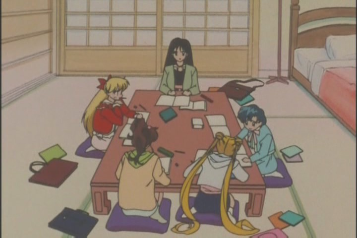 Whenever I think of the warm bond they established between this group, I tend to think of them studying in Rei's room